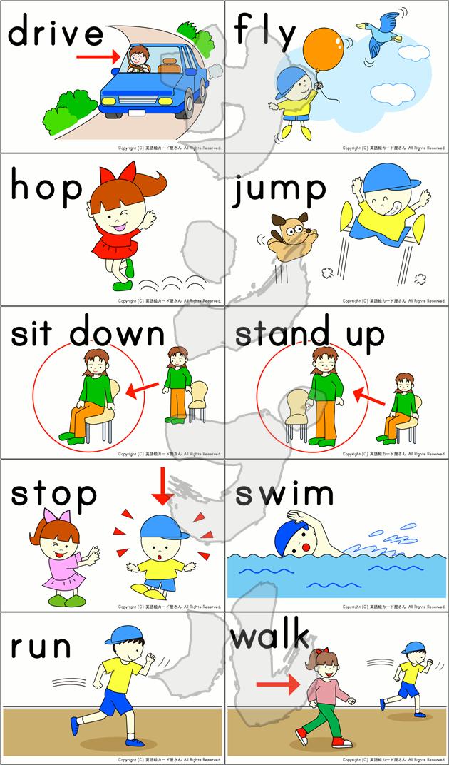 動詞のカード10種
