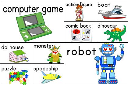 おもちゃのカード10種
