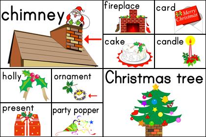 クリスマスのカード10種