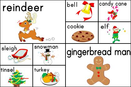 クリスマスのカード(2)10種